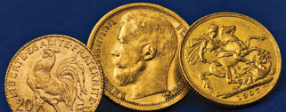Gold Coins from Regions of the World